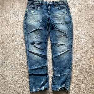 Blank NYC Distressed Tomboy Jeans